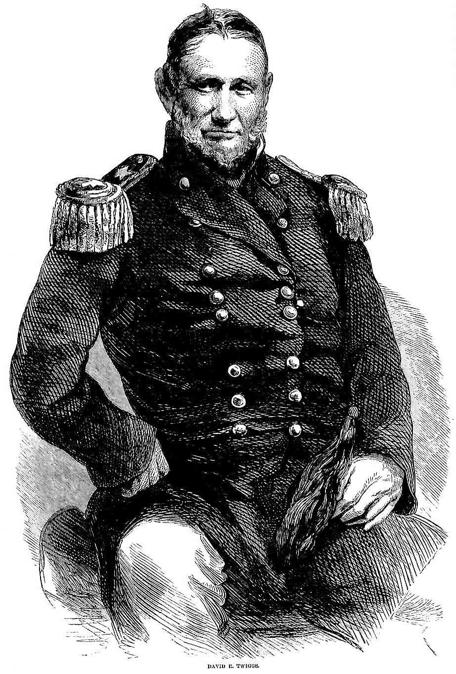 Gen David E Twiggs from Harper 39 s Pictorial History of the Civil War