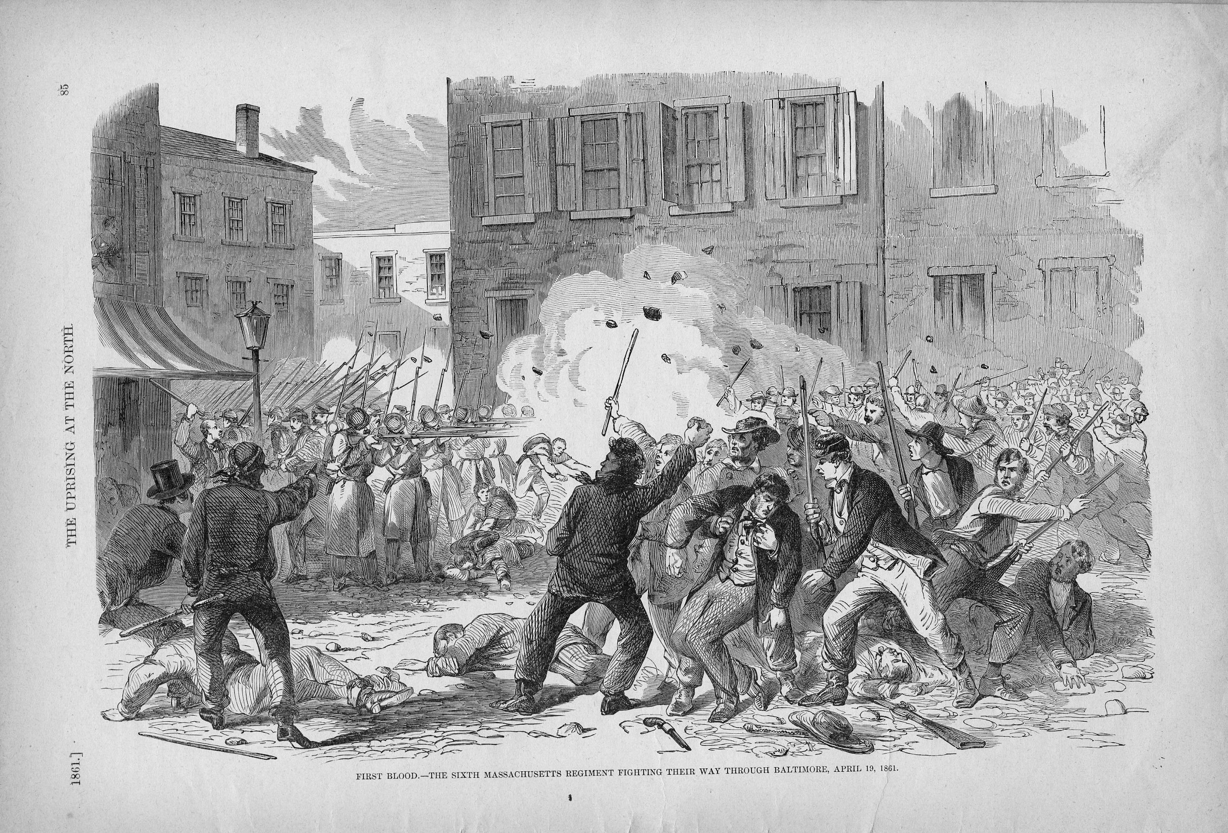 1861 April 19: Baltimore Riot | The Civil War and Northwest Wisconsin