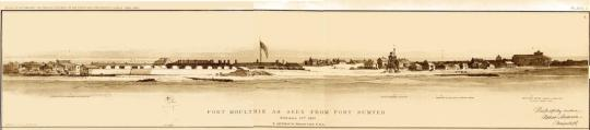 Fort Moultrie as Seen from Fort Sumter (see footnote 1)