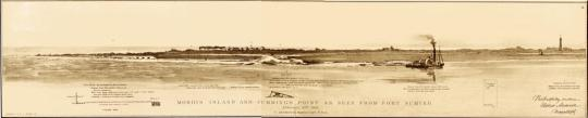 Morris Island and Cumming's Point as Seen from Fort Sumter (see footnote x)