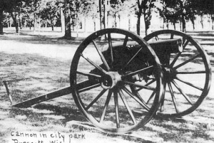 Little Dolly Bump cannon, a Rodman gun, in the Prescott City Park, courtesy of the Pierce County Historical Association