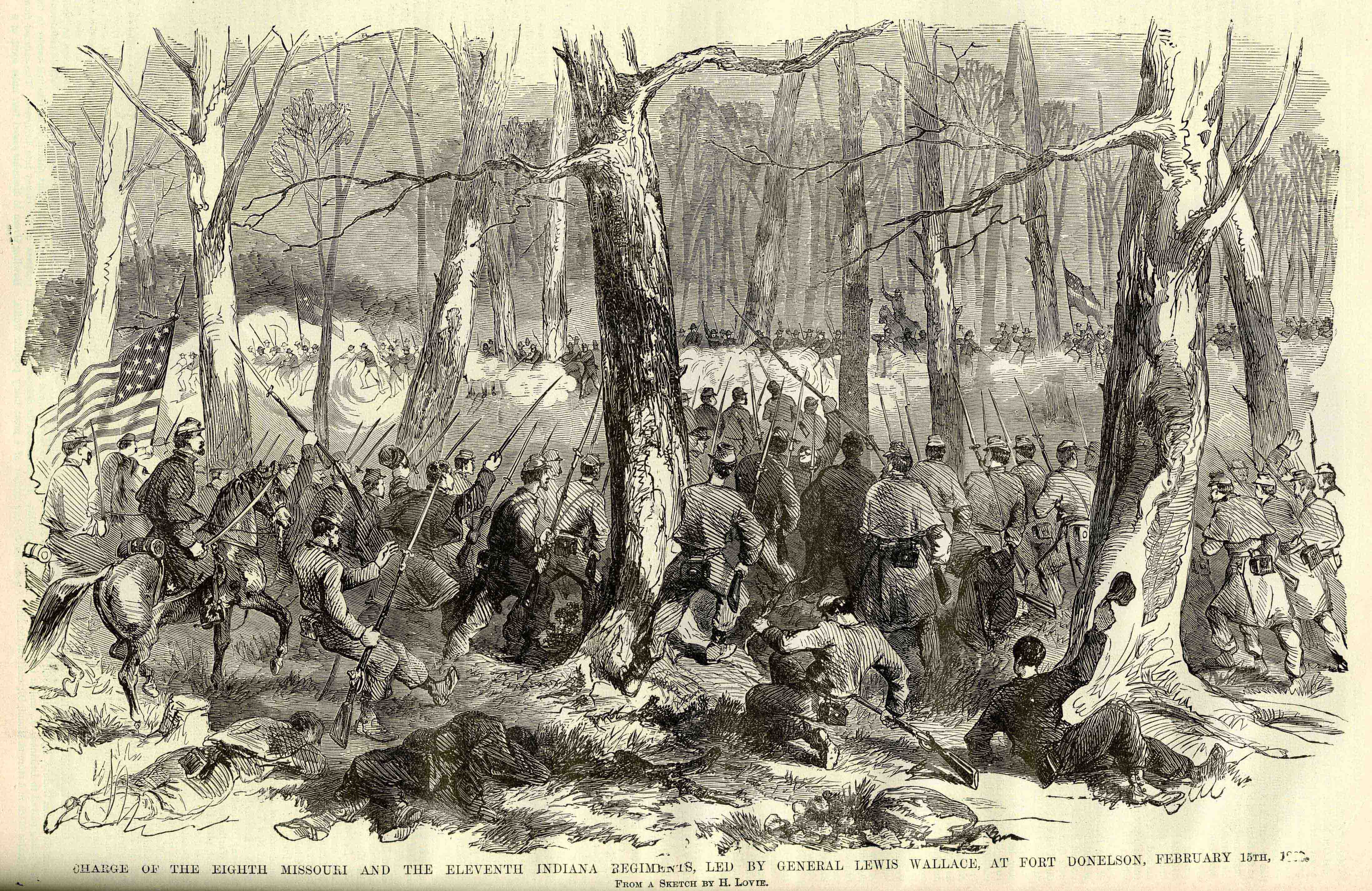 Lew Wallace S Charge At The Battle Of Fort Donelson From The Soldier In Our Civil War 6