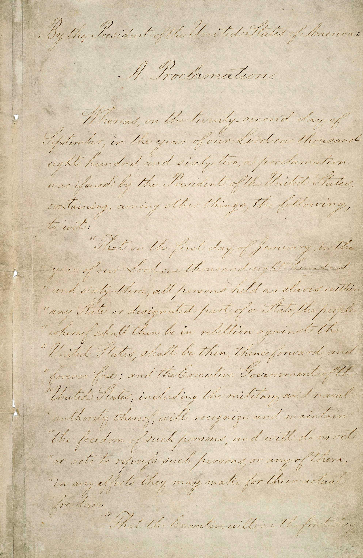 1863 January 7: The Emancipation Proclamation Takes Effect ...