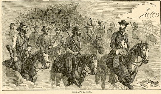 "Morgan's Raiders, from ""Harper's Pictorial History of the Civil War"" (see footnote 1)"