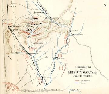 Skirmishes Near Liberty Gap,Tenn., June 24-26, 1863, plate 32, map 5 (see footnote 1)