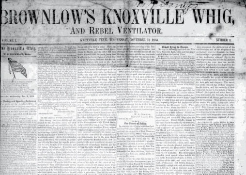 """From """"Chronicling America: Historic American Newspapers"""" at the Library of Congress; image provided by the University of Tennessee"""