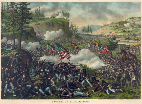 Battle of Chickamauga, by Kurz & Allison (see footnote 1)