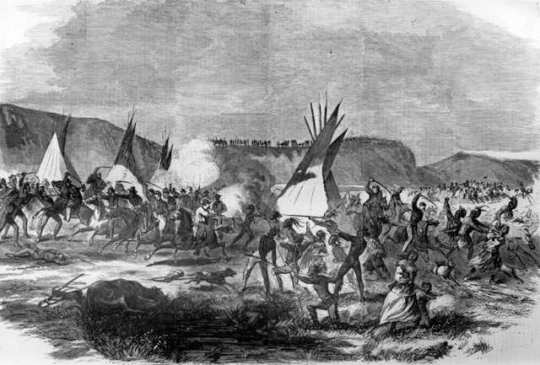 "Battle of White Stone Hill, from ""Harper's Weekly"" (see footnote 4)"