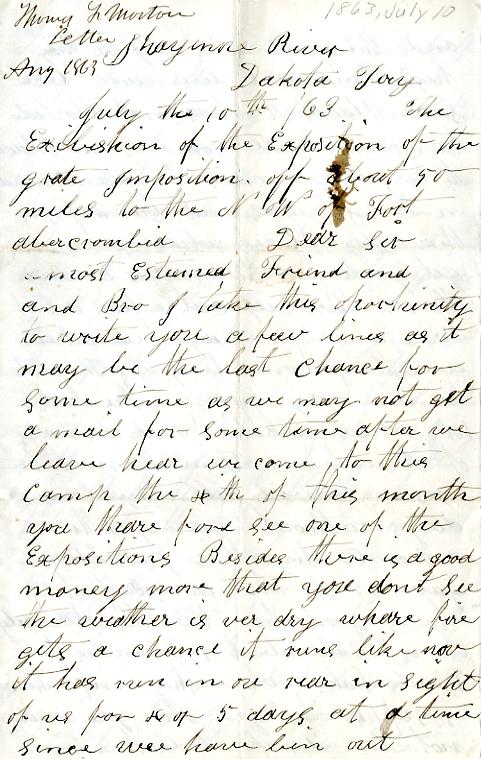 Morton letter 1863-7-10