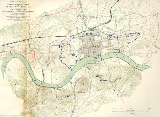 Approaches and Defenses of Knoxville, E. Tennessee, plate 48, map 2 (see footnote 1)