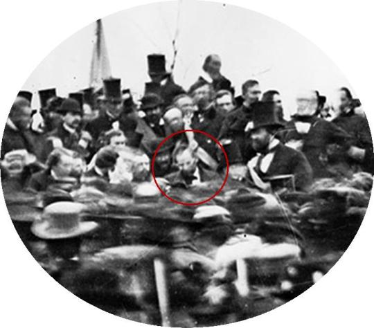 Abraham Lincoln at Gettysburg, November 19, 1863. Enlargement from glass plate negative. Brady-Handy Collection, Prints and Photographs Division, Library of Congress (Digital ID # cwpb-07639)