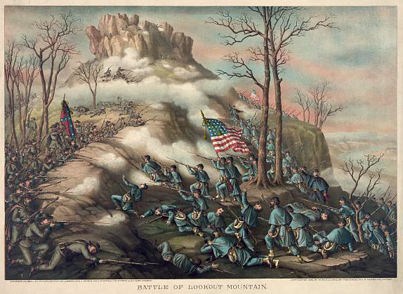 Battle of Chickamauga, by Kurz & Allison