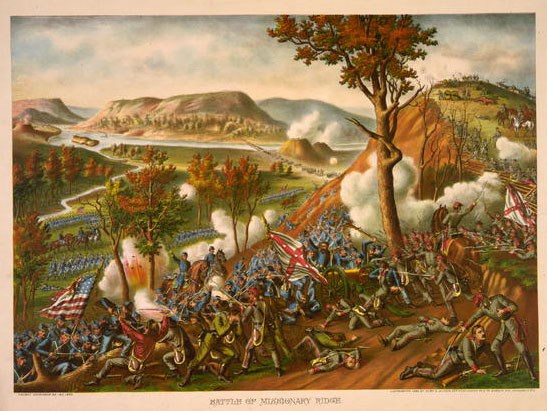 Battle of Lookout Mountain, by Kurz & Allison