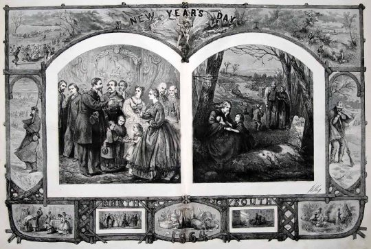 "New Years Day, by Thomas Nast from ""Harper's Weekly"" of January 2, 1864"