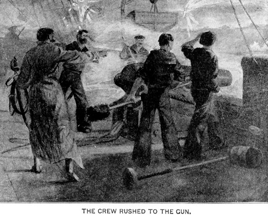 Scene Aboard the USS Marblehead During an Engagement with the Confederates on December 25, 1863 (see footnote x)