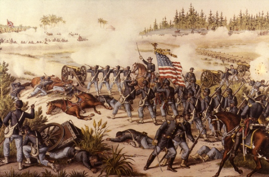 Battle of Olustee, by Kurz & Allison