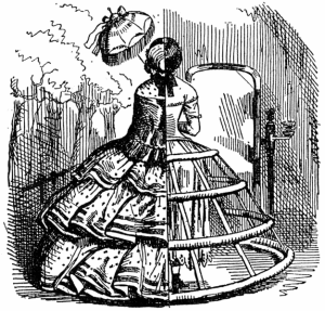 Crinoline cutaway diagram from Punch magazine, August 1856