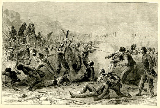 """Fort Pillow Massacre, from """"Harper's Pictorial History of the Civil War"""""""