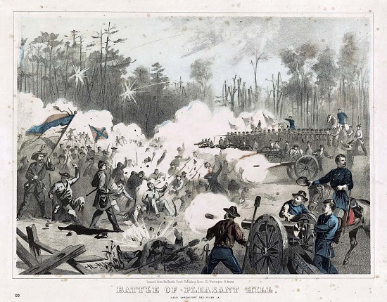 Battle of Pleasant Hill, from the Library of Congress (see footnote 12)