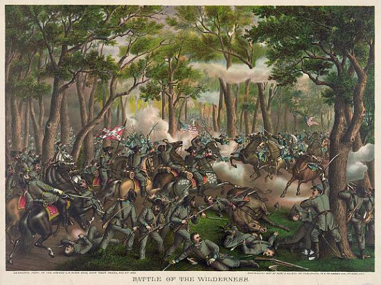 Battle of the Wilderness, from the Library of Congress