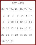 May 1864 calendar