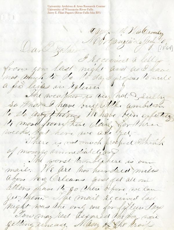 Flint Letter 1864-7-20