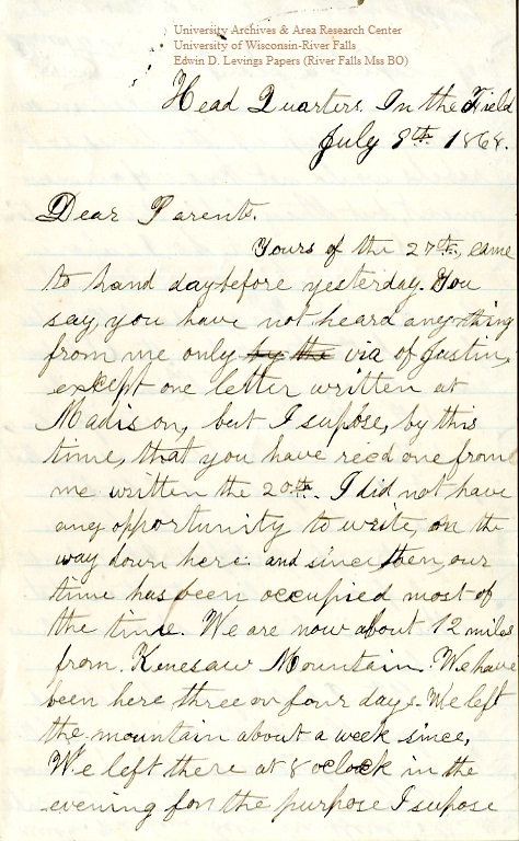 Levings letter 1864-07-08