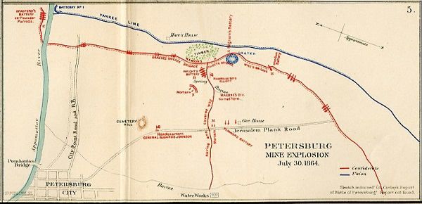Petersburg Mine Explosion, Plate 78, Map 5