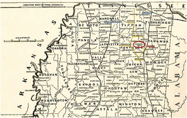 map of mississippi cropped from harpers pictorial history of the civil war