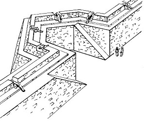 Drawing of a bastion by Pearson Scott Foresman