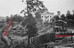 Confederate palisades near Atlanta, Georgia, from the Library of Congress