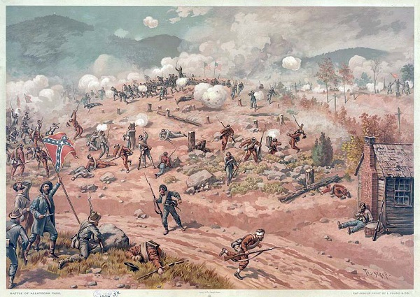 """Battle of Allatoona Pass,"" by Thure de Thulstrup, from the Library of Congress"