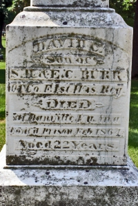 David C. Burr marker in Greenwood Cemetery³