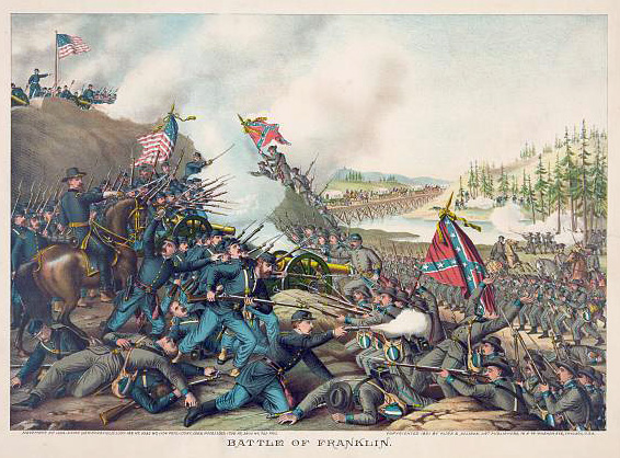 """Battle of Franklin"" by Kurz & Allison, from the Library of Congress"