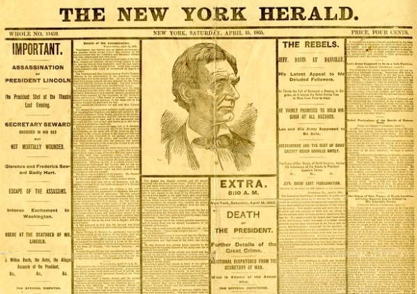 DeathOfLincoln_NewYorkHerald_April 15, 1865_reduced