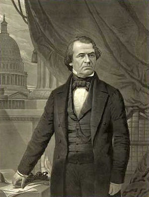 Andrew Johnson, ca. 1865, from the Library of Congress