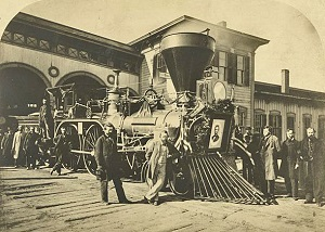 Engine of Lincoln's funeral train
