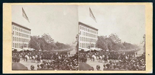 Stereograph showing the Grand Review, by Mathew Brady²