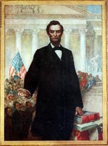 Leutze portrait of Lincoln
