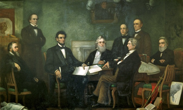 """First Reading of the Emancipation Proclamation of President Lincoln"" by Francis B. Carpenter, U.S. Senate"